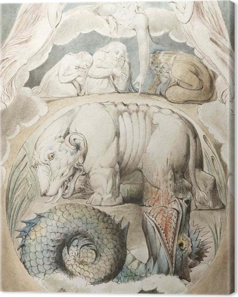 Tableau sur toile William Blake - Béhémoth et Léviathan - Reproductions