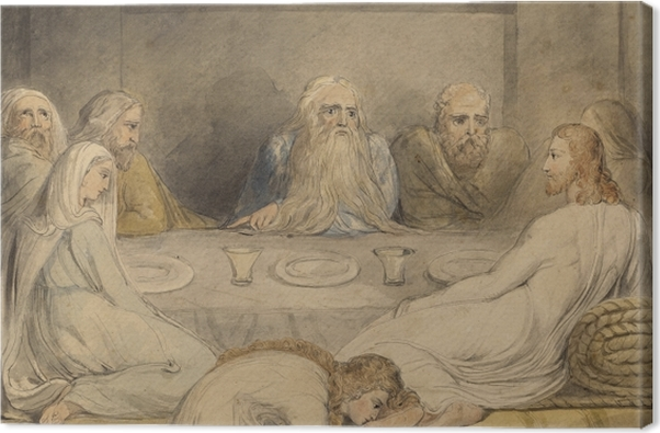 Tableau sur toile William Blake - Jésus-Christ oint par une femme pêcheuse - Reproductions