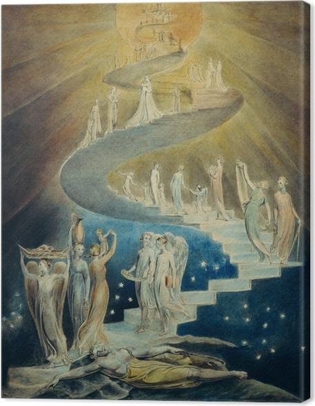 Tableau sur toile William Blake - l'échelle de Jacob - Reproductions