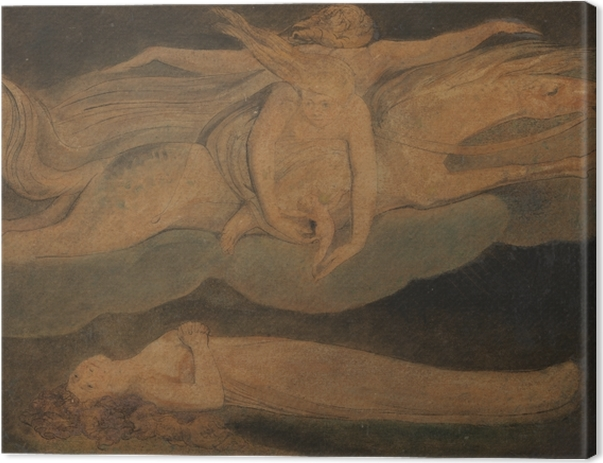 Tableau sur toile William Blake - La Pitié - Reproductions