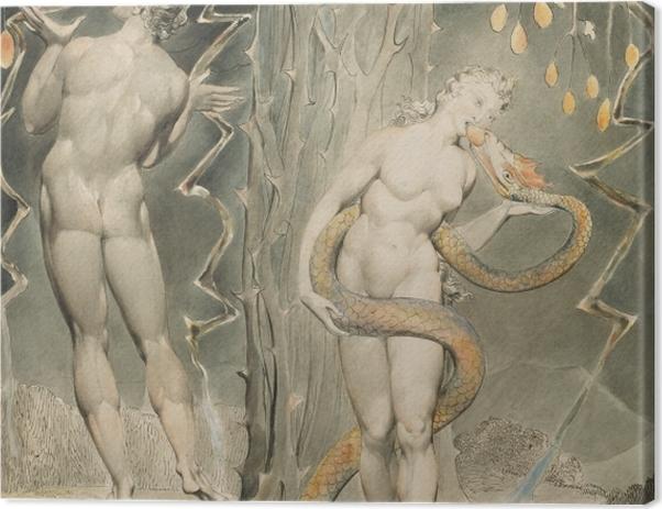 Tableau sur toile William Blake - La Tentation d'Ève - Reproductions