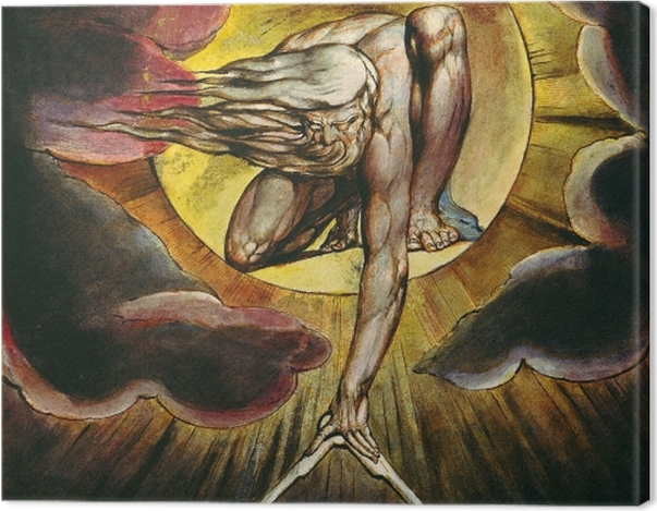 Tableau sur toile William Blake - Le Dieu architecte - Reproductions