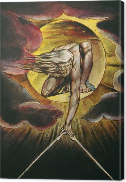 Tableau sur toile William Blake - Le Dieu architecte - Reproductions