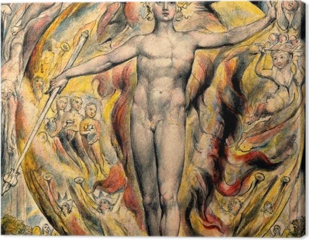Tableau sur toile William Blake - Moïse - Reproductions