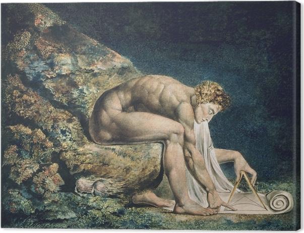 Tableau sur toile William Blake - Newton - Reproductions