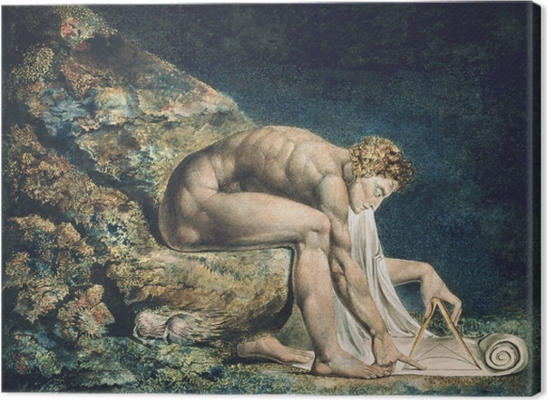 Tableau sur toile William Blake - Newton - Reproductions