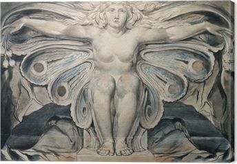 Tableau sur toile William Blake - Personnification du tombe