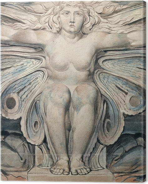 Tableau sur toile William Blake - Personnification du tombe - Reproductions
