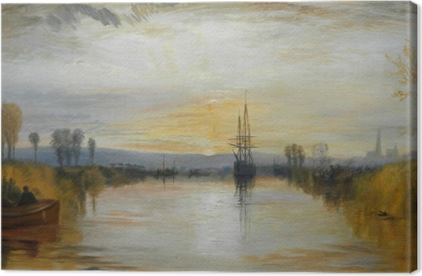 Tableau sur toile William Turner - Canal de Chichester - Reproductions