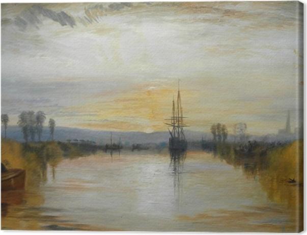 Tableau sur toile William Turner - Canal de Chichester - Reproductions