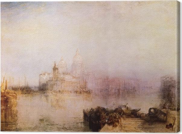 Tableau sur toile William Turner - Dogana et Madonna della Salute - Reproductions