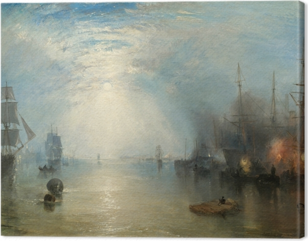 Tableau sur toile William Turner - Keelmen Heaving in Coals by Moonlight - Reproductions