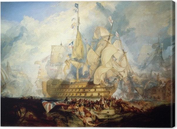 Tableau sur toile William Turner - La bataille de Trafalgar - Reproductions