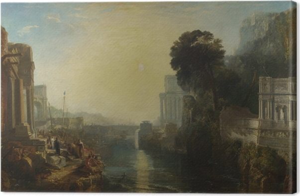 Tableau sur toile William Turner - Le déclin de l'empire carthaginois - Reproductions