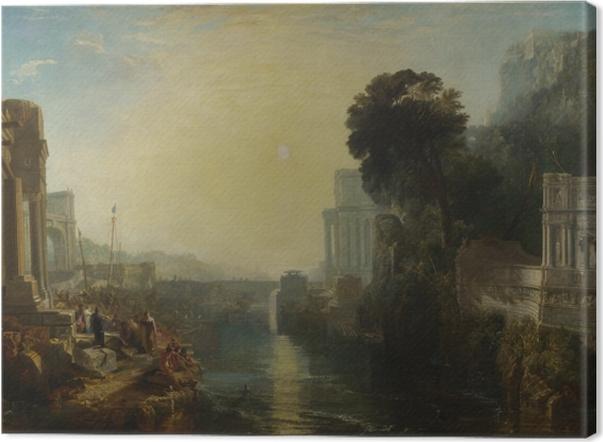 Tableau sur toile William Turner - Le déclin de l'empire carthaginois - Reproductions