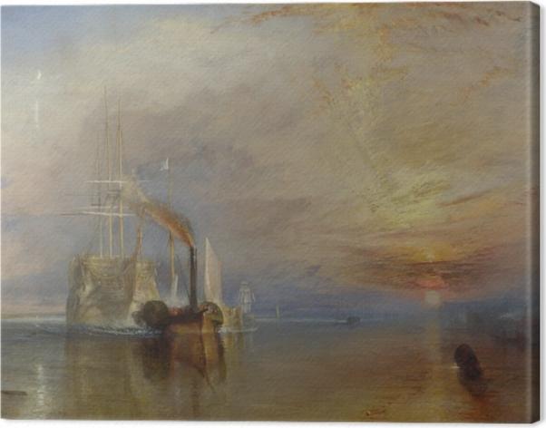 Tableau sur toile William Turner - Le Dernier Voyage du Téméraire - Reproductions