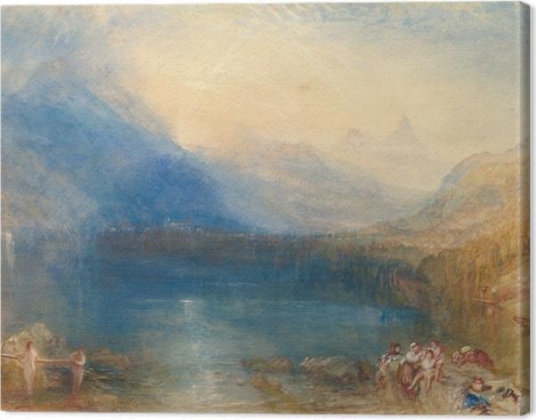 Tableau sur toile William Turner - Le lac de Zoug, tôt le matin - Reproductions