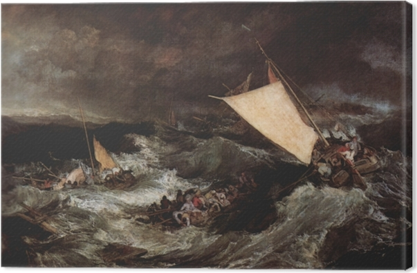 Tableau sur toile William Turner - Le Naufrage - Reproductions