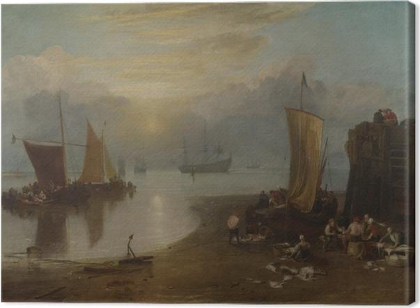 Tableau sur toile William Turner - Lever de soleil dans la brume - Reproductions