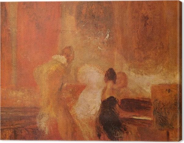 Tableau sur toile William Turner - Musique à Petworth - Reproductions