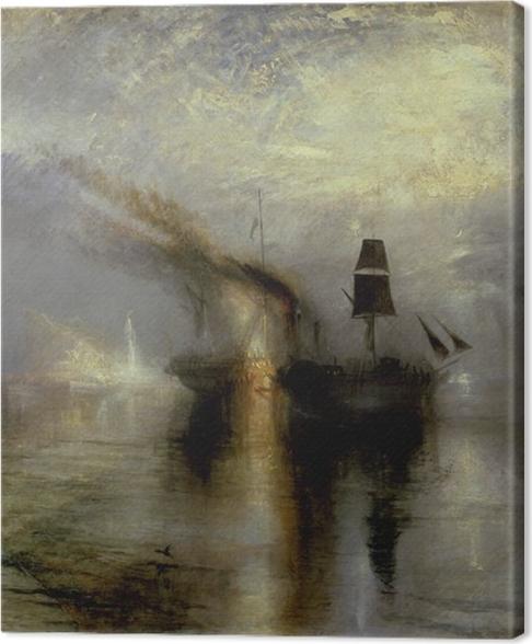 Tableau sur toile William Turner - Paix - Funérailles en mer - Reproductions