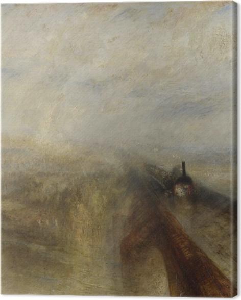 Tableau sur toile William Turner - Pluie, Vapeur et Vitesse - Reproductions