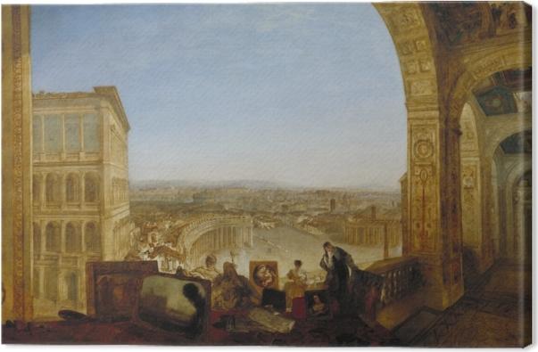 Tableau sur toile William Turner - Rome vue du Vatican - Reproductions