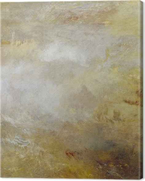 Tableau sur toile William Turner - Stormy Sea avec les dauphins - Reproductions
