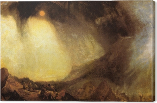Tableau sur toile William Turner - Tempête de neige : Hannibal et son armée traversant les Alpes - Reproductions