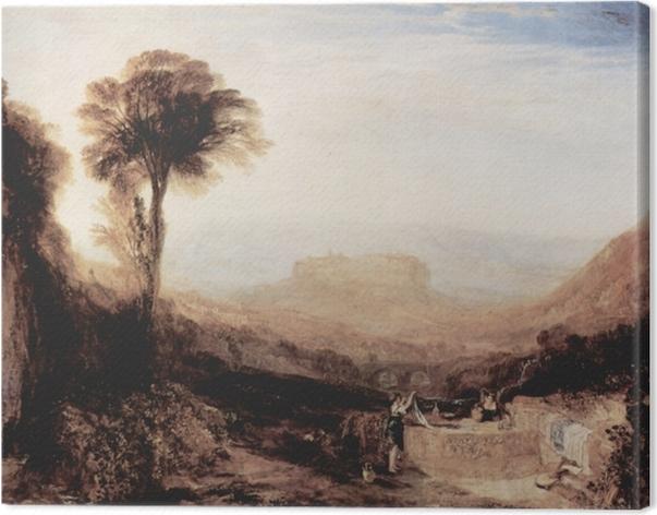 Tableau sur toile William Turner - Vue d'Orvieto, paint à Rome - Reproductions