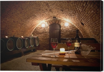 Tableau sur toile Wine cellar