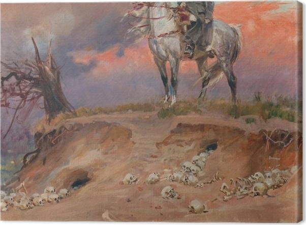 Tableau sur toile Wojciech Kossak - Napoléon sur le champ de bataille - Reproductions