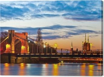 Tableau sur toile Wroclaw au coucher du soleil