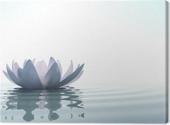 Tableau sur toile Zen fleur loto dans l'eau