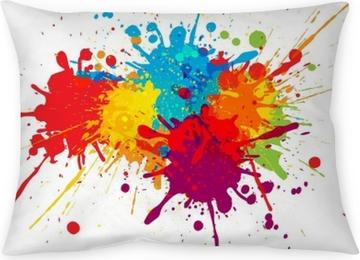 Taie d'oreiller Conception de fond coloré de vecteur. conception de vecteur d'illustration
