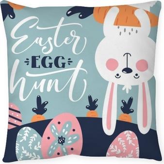 Taie d'oreiller Modèle de chasse aux œufs de Pâques pâques