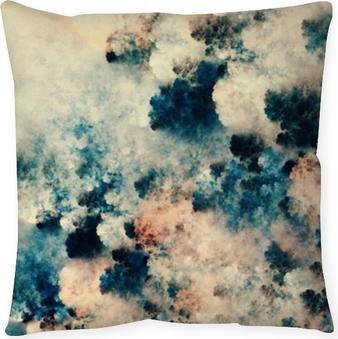 Taie d'oreiller Peinture abstraite numérique de textures sombres qui ressemblent à des nuages de fantaisie sur un fond clair