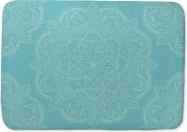 Design élégant sans couture de mandala bleu clair. parfait pour les arrière-plans et les conceptions de papier peint. illustration vectorielle Tapis de bain