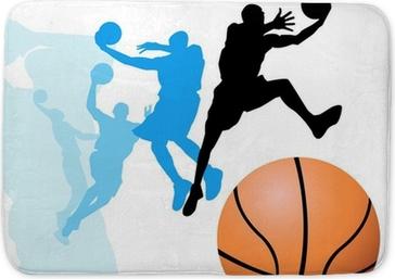 Tapis de bain Les joueurs de basket-ball