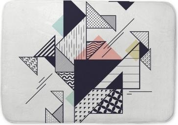 Tappetino per bagno Composizione geometrica moderna astratta