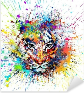 Яркий фон с тигром Pixerstick tarra