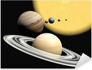Aurinkokunta, abstact esitys. Pixerstick tarra