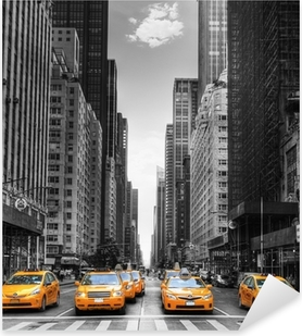 Avenue avec des taxis à new york. Pixerstick Tarra