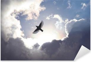 Enkeli lintu taivaassa Pixerstick Tarra