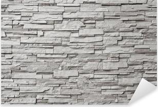 Harmaa moderni kiviseinä Pixerstick Tarra