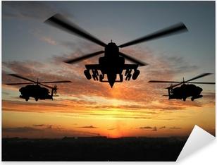Helikopterin siluetti Pixerstick Tarra