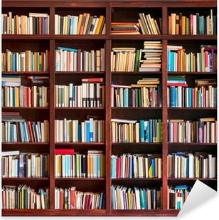 Kirjahylly täynnä kirjoja Pixerstick Tarra