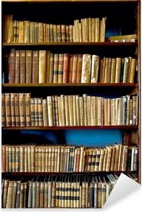 Kirjoja kirjastossa Pixerstick tarra