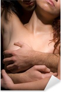 Kiusaus nainen ja mies Pixerstick tarra