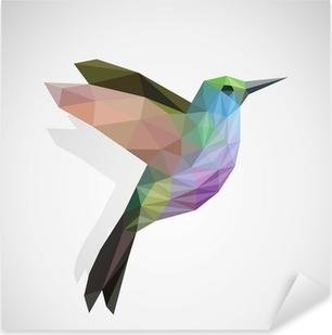 Lintu / värikäs kolibri Pixerstick tarra